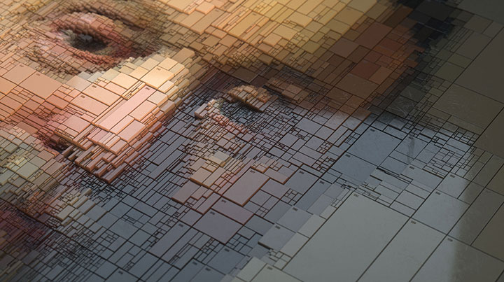Artist Creates Stunning Works By Subdividing Rembrandt Paintings