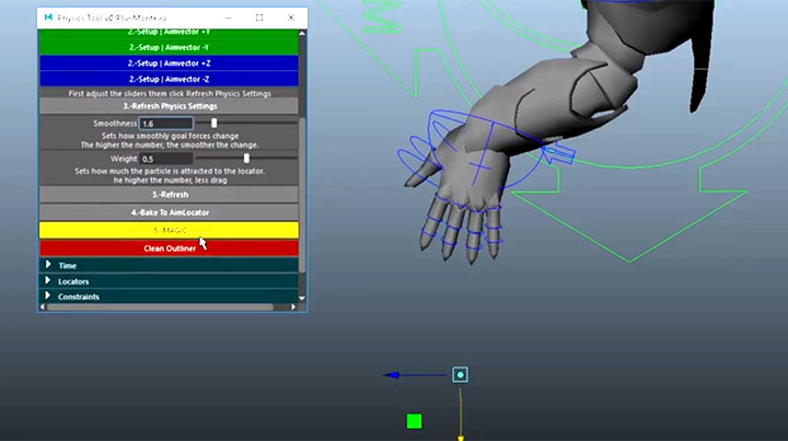 Physics Tools in Maya is an Easy Way to Create Secondary