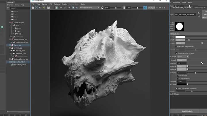 Getting Accurate Displacements From Zbrush to Arnold - Lesterbanks