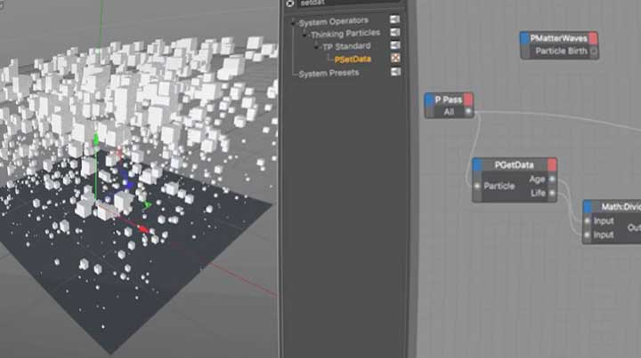 Working With Thinking Particles Age to Scale and Mograph - Lesterbanks