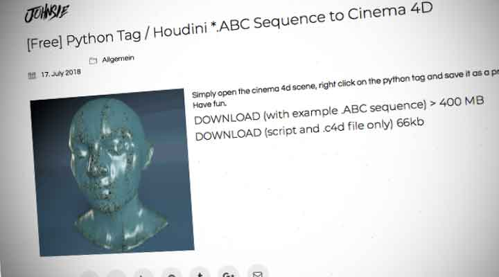 How to Read Alembic Sequences With a Single C4D Tag