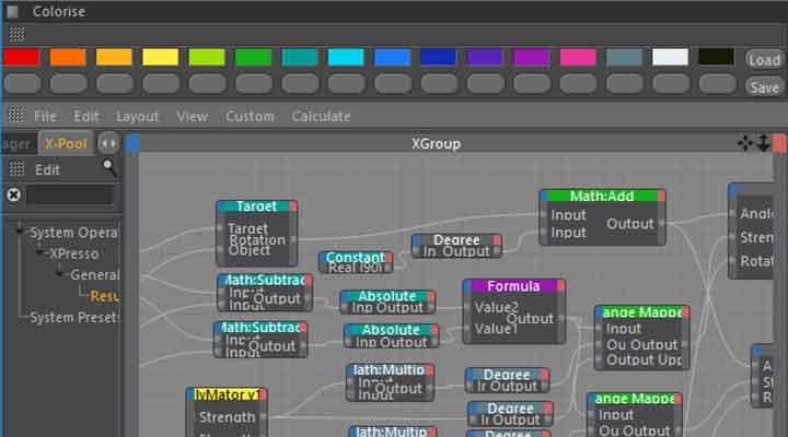 Change the Color of Xpresso Nodes in C4D