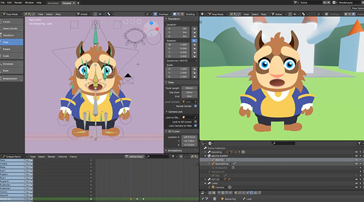 Explore Blender GreasePencil With This Free Character Rig