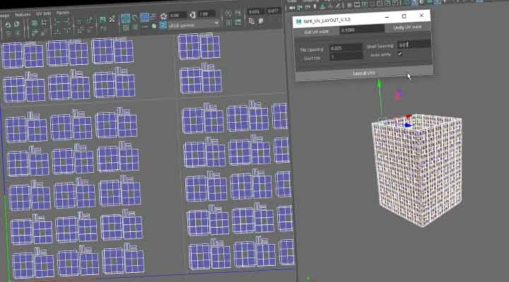 new script can layout maya uvs based on topology lesterbanks