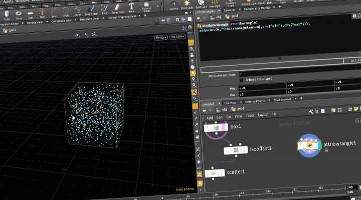 A Little Houdini Tip to Quickly Scatter Points In a Box