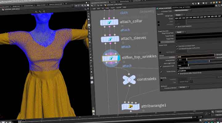 Vellum Workflow for Paneling Cloth in Houdini - Lesterbanks