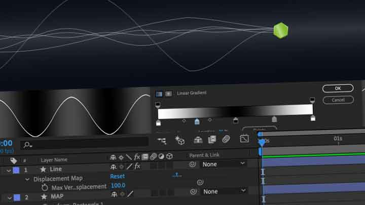 How to Create Sine waves in AE with a Grayscale Map