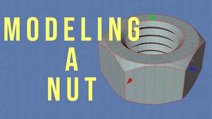 Check Out this Easy Way to Model a Nut in Cinema 4D - Lesterbanks