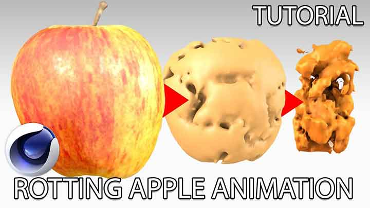 How to Create a Decaying Apple With C4D Fields - Lesterbanks