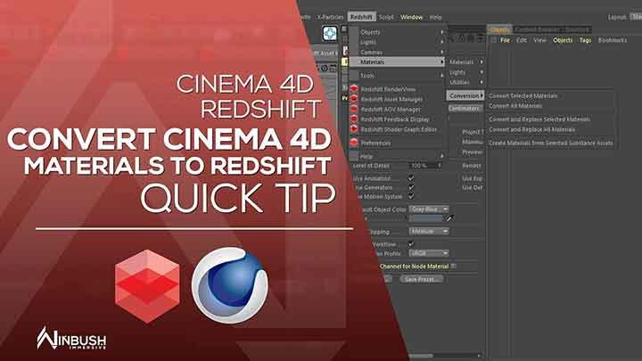 Easily Convert C4D Materials to Redshift Materials - Lesterbanks