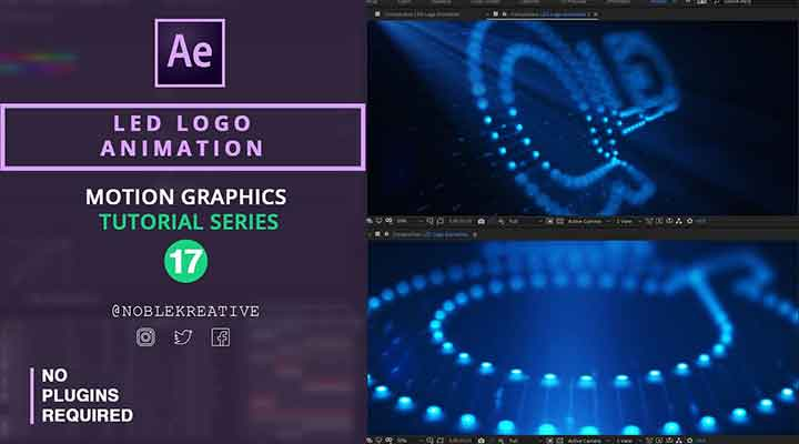 Create an LED Logo Animation Effect in Ae - Lesterbanks