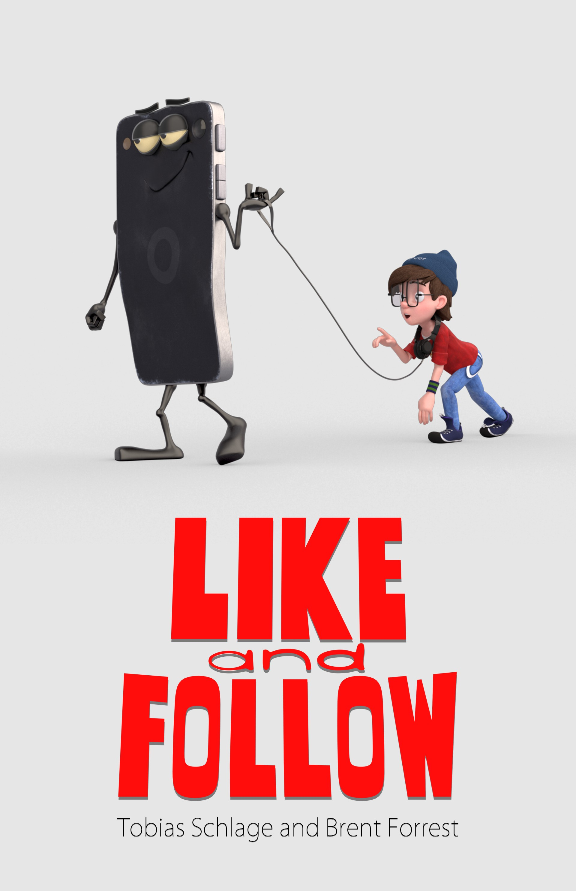 Like and follow promo poster