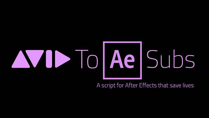 Script Automatically Creates AE Text Layers from Avid Subtitles