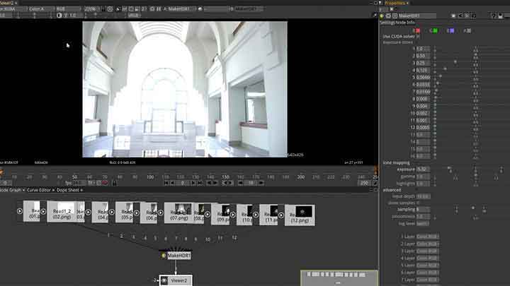 Free OpenFX MakeHDR Merges Multiple Images to 1 HDRI
