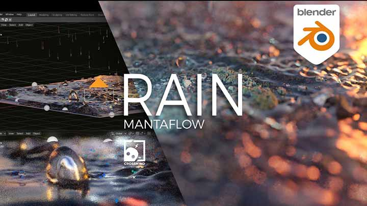 Create an Amazing Rain Effect With Mantaflow in Blender
